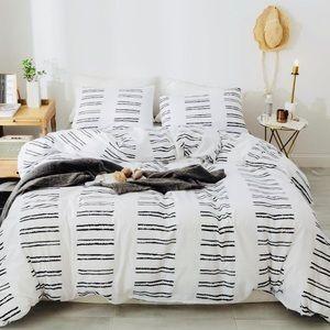 Geometric Stripes Duvet Cover Bed Sheets